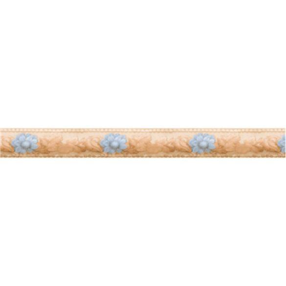 Sárga-kék virág mintás öntapadós bordűr