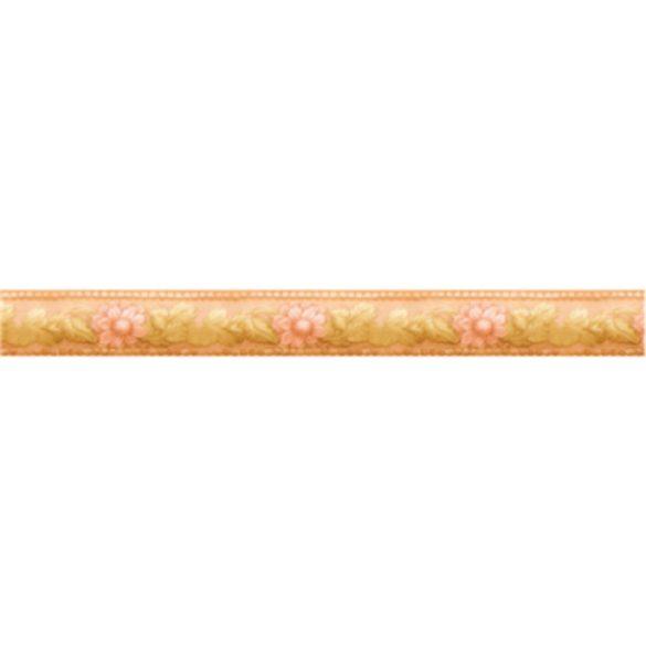 Virágok és levelek mintás öntapadós bordűr