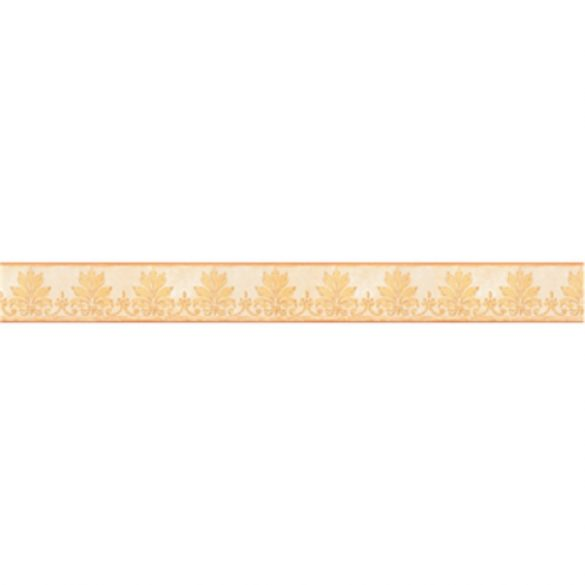 Sárga nonfiguratív mintás öntapadós bordűr