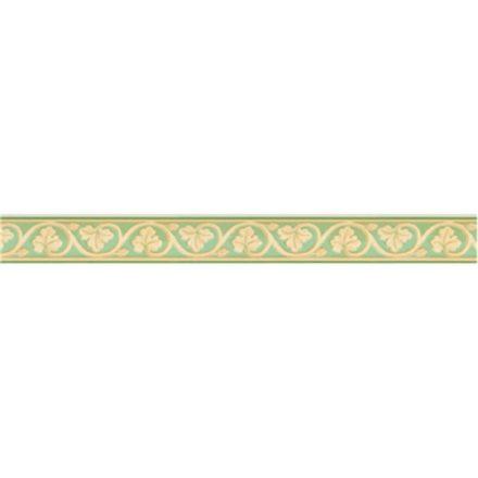 Zöld leveles mintás öntapadós bordűr