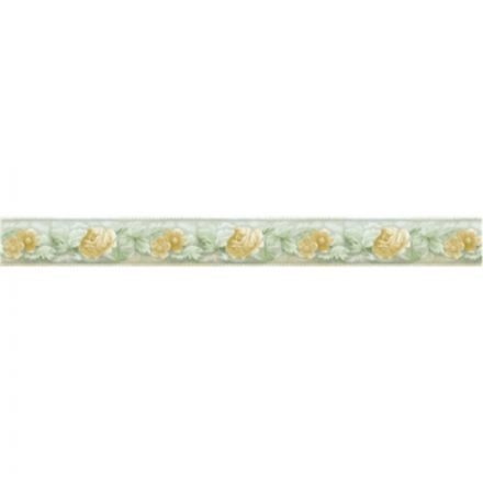 Halvány sárga virág mintás öntapadós bordűr