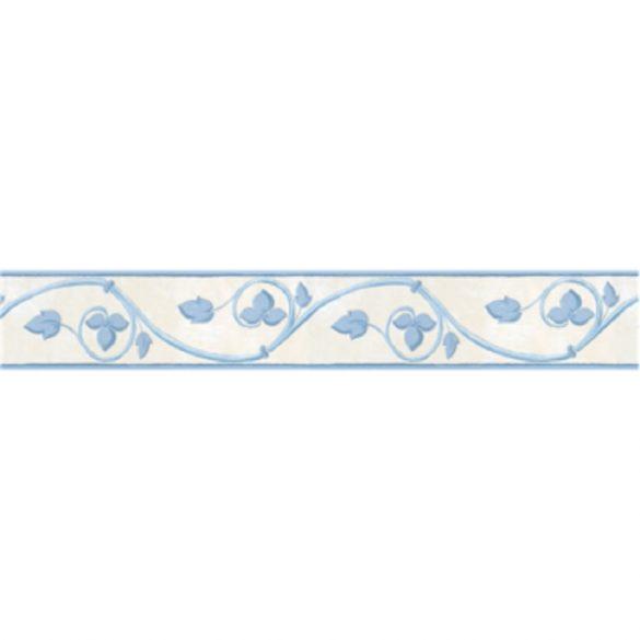Kék levél mintás öntapadós bordűr