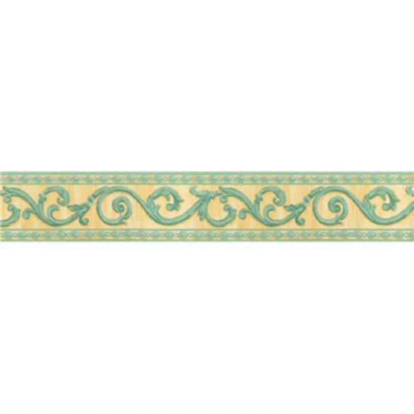 Sárga-zöld levél indás mintás öntapadós bordűr