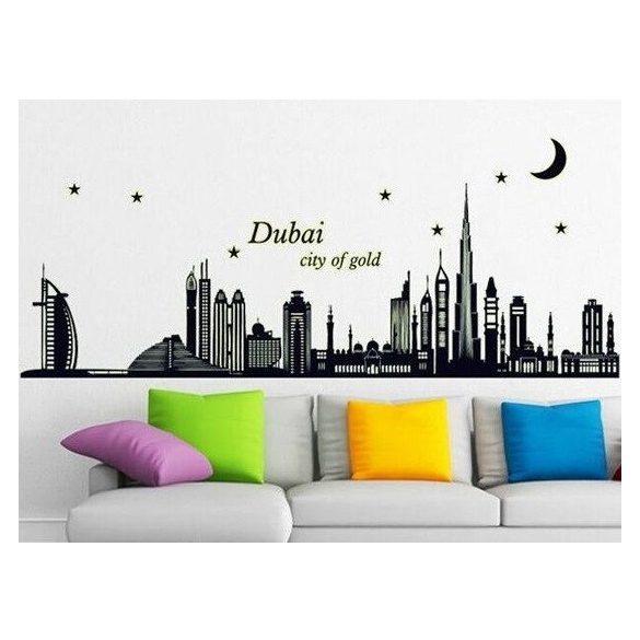 Dubai, éjjel világító falmatrica a Dekormatricák dekoráció webáruház kínálatában