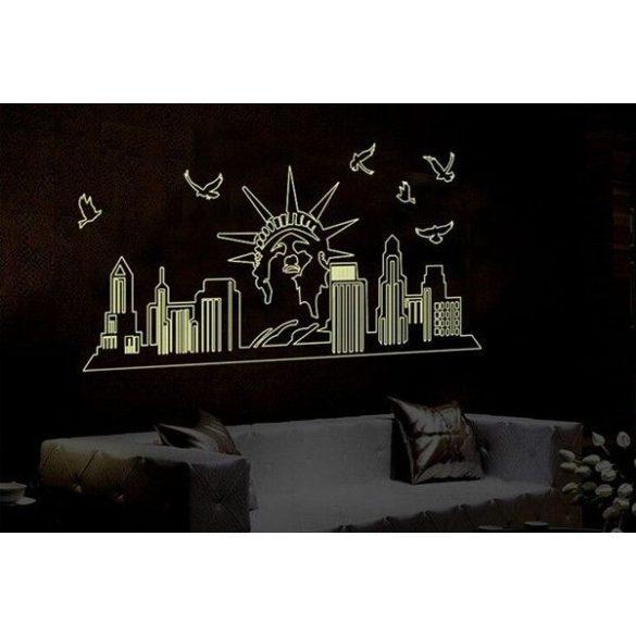 New York, éjjel világító falmatrica