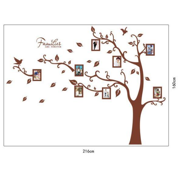 Óriás barna családfa balra hajló