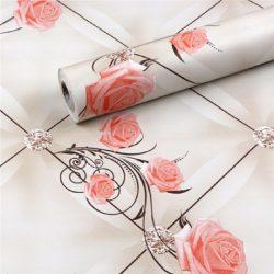 Rózsa mintás öntapadós tapéta