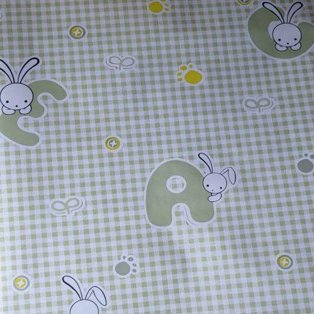 Bézs négyzet mintás öntapadós tapéta