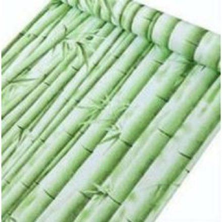 Zöld bambusz mintás öntapadós tapéta