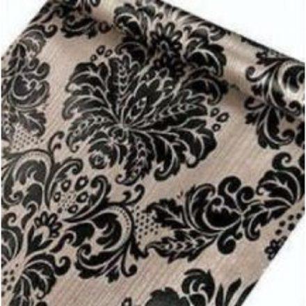 Fekete virág mintás öntapadós tapéta