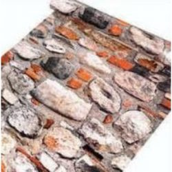 Kőfal, öntapadós tapéta