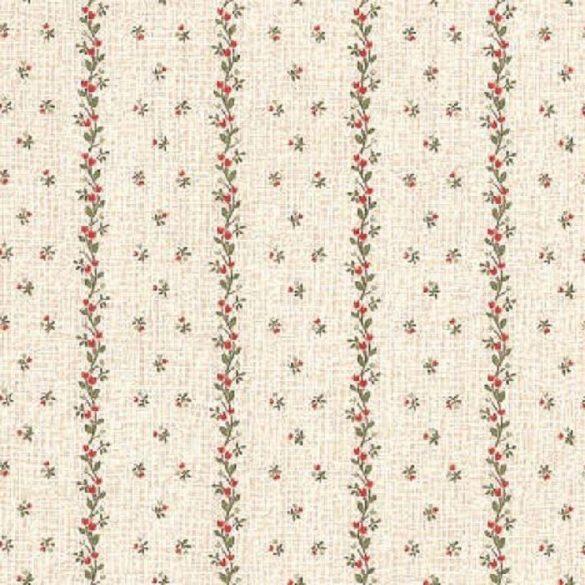 Csíkokban futó kisvirágok mintás öntapadós tapéta