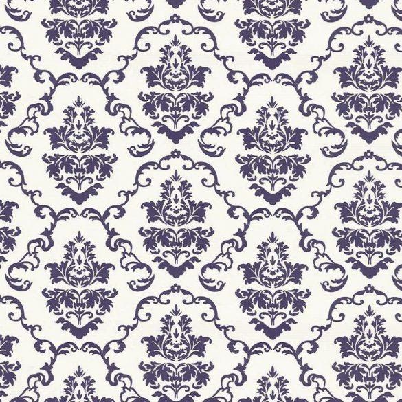 Fehér-kék barokk mintás öntapadós tapéta