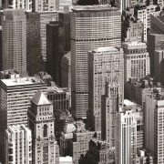 Felhőkarcolók mintás öntapadós tapéta