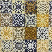 Mediterrán csempemintás öntapadós tapéta a Dekormatricák Webáruházban