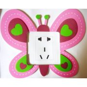 Pillangó, színes villanykapcsoló matrica