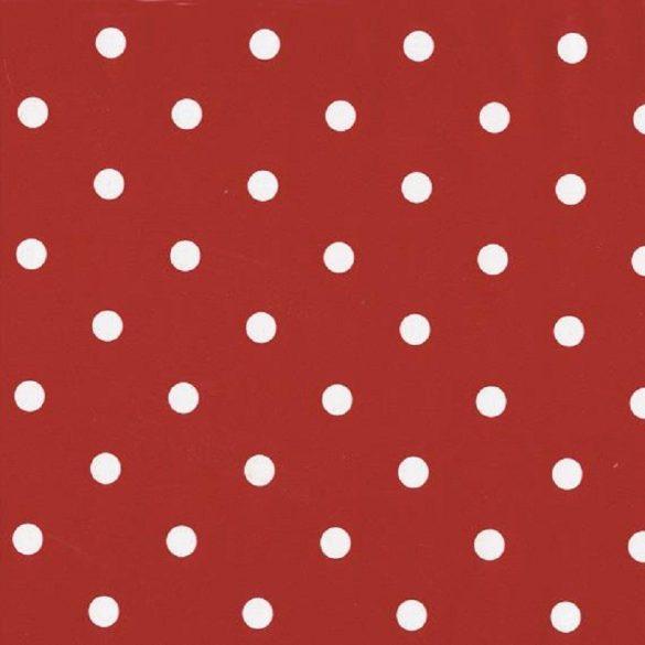 Piros pöttyös mintás öntapadós tapéta