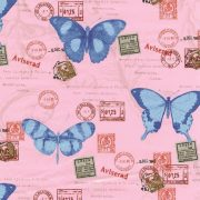 Pillangó mintás öntapadós tapéta a Dekormatricák Webáruházban