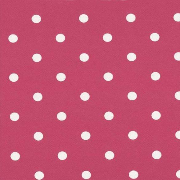 Rózsaszín pöttyös mintás öntapadós tapéta