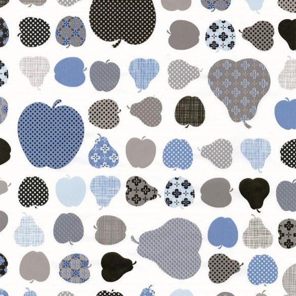 Kék alma és körte mintás öntapadós tapéta a Dekormatricák Webáruházban