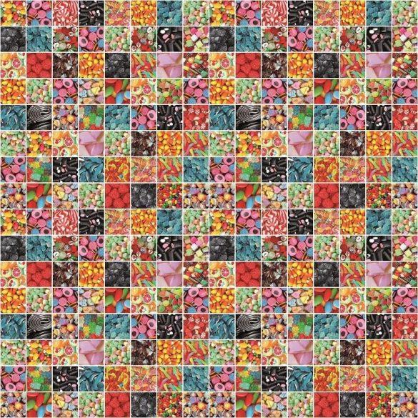 Cukorka mintás öntapadós tapéta a Dekormatricák Webáruházban