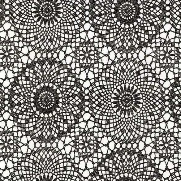 Fekete csipke mintás öntapadós tapéta