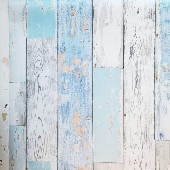 Kék kopott deszka mintás öntapadós tapéta a Dekormatricák Webáruházban