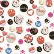 Buttons mintás öntapadós tapéta a Dekormatricák Webáruházban