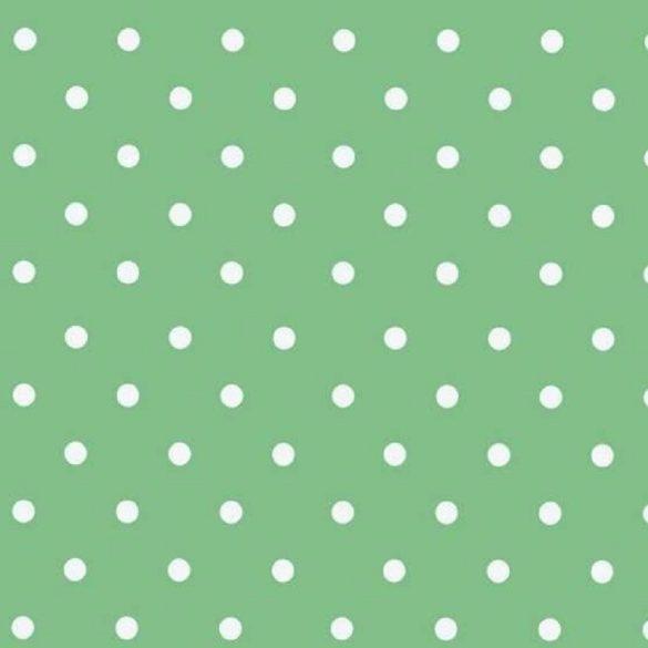 Zöld vintage pöttyös mintás öntapadós tapéta