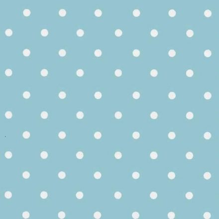 Kék vintage pöttyös mintás öntapadós tapéta