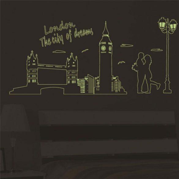 London, éjjel világító falmatrica