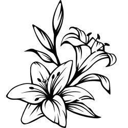 Liliomok, falmatrica a Dekormatricák Webáruház kínálatában