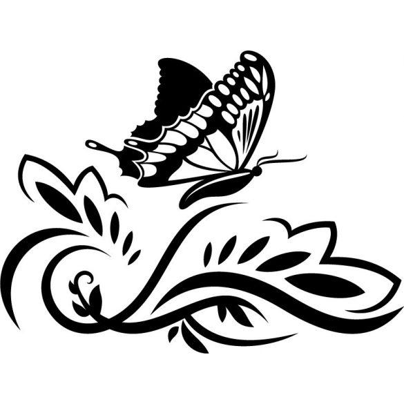 Pillangó nonfiguratív mintán
