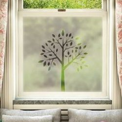 Ablakdekor matrica fa mintával a Dekormatricák Webáruházban