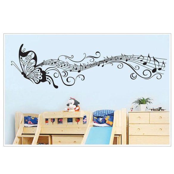 Pillangó hangjegyekkel, falmatrica