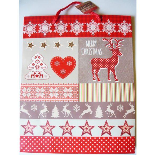 Merry Christmas, karácsonyi ajándéktáska, L méret a Dekormatricák webáruháztól