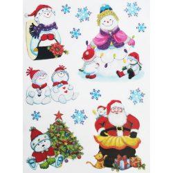Hóemberkék, csillámos ablakmatrica Karácsonyra - Dekormatricák webáruház