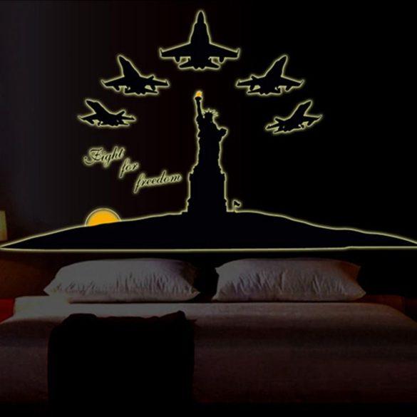 Fight for freedom éjjel világító falmatrica a Dekormatricák webáruház kínálatában