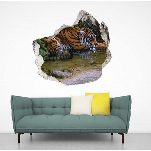 Szomjas tigris, falmatrica a Dekormatricák Webáruházból