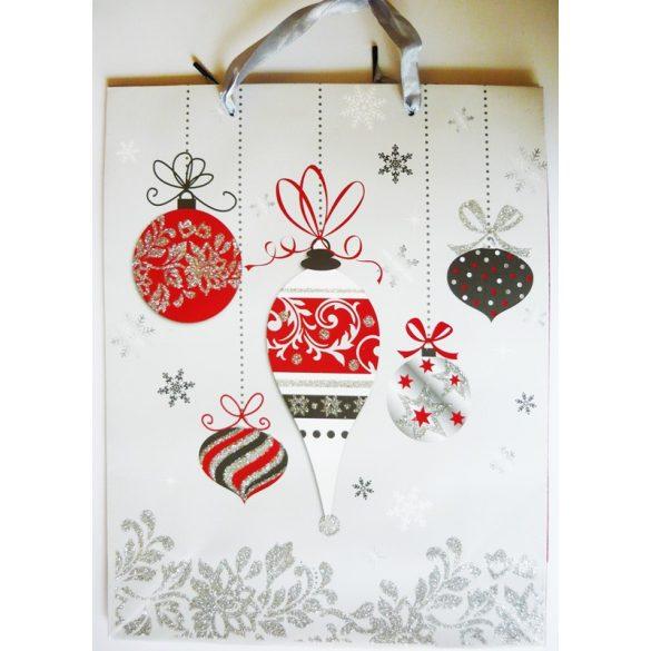 Karácsonyi díszek, karácsonyi ajándéktáska, L méret a Dekormatricák webáruháztól