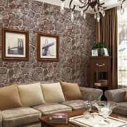 Barna kőmintás öntapadós tapéta