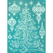 Karácsonyfa, csillámos karácsonyi ablakmatrica a Dekormatricák webáruházban