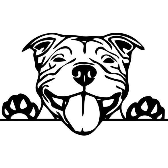 staffordshire terrier autómatrica a Dekormatricák webáruház matricái közül