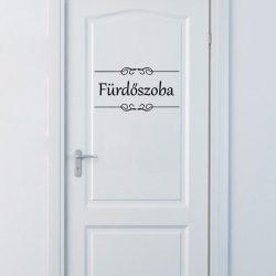 Fürdőszoba felirat ajtóra, matrica a Dekormatricák Webáruházban