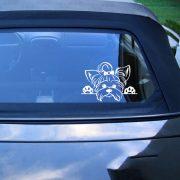 Yorkshire terrier autómatrica a Dekormatricák webáruház matricái közül