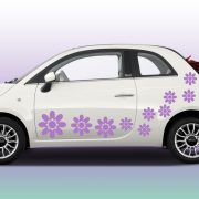 Virág4 autómatrica a Dekormatricák webáruház autómatricái közül