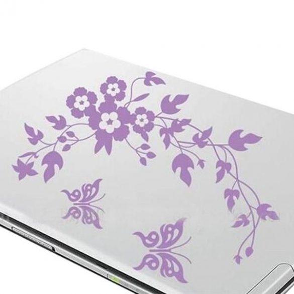 Virág pillangókkal, laptopmatrica