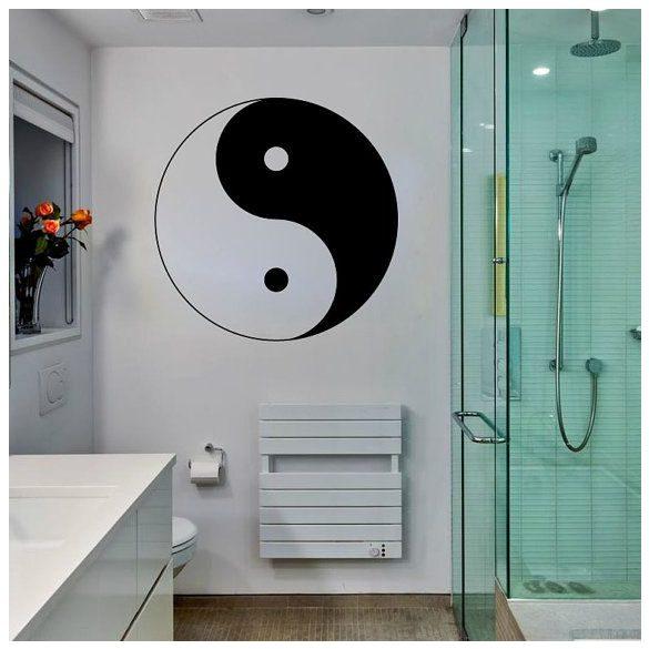 Jin-jang falmatrica a Dekormatricák falmatrica webáruház szimbólumok matricái közül