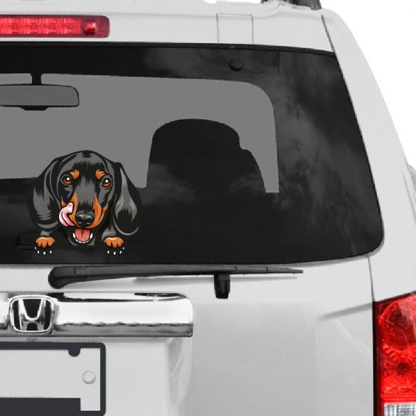 Tacskó 2 rajzos autómatrica a Dekormatricák webáruház matricái közül