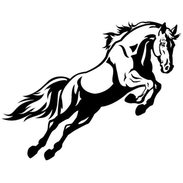 Ugró ló, lovas falmatrica a Dekormatricák falmatrica webáruháztól